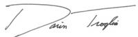 Darin Troglia Signature